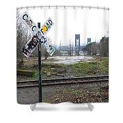 Downbound Train Shower Curtain