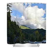Downhill Road Shower Curtain