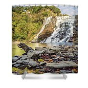 Downstream From Ithaca Falls Shower Curtain