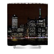 Downtown At Night Shower Curtain