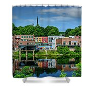 Downtown Augusta, Maine Shower Curtain