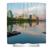 Downtown Austin Texas Skyline 2 Shower Curtain