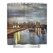 Downtown Bridge Shower Curtain