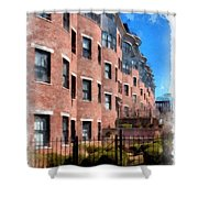 Downtown Burlington Vermont Watercolor Shower Curtain