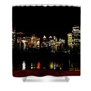 Downtown Calgary At Night Shower Curtain