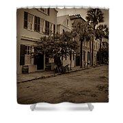 Vintage Downtown Charleston South Carolina Shower Curtain