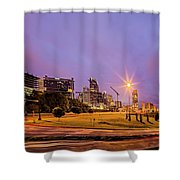 Downtown Charlotte North Carolina Usa At Sunrise Shower Curtain by Alex Grichenko