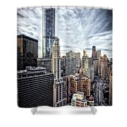 Downtown Chicago Cityscape 1  Shower Curtain