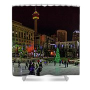 Downtown Christmas Shower Curtain