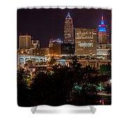 Downtown Cleveland Veteran Memorial Bridge  Shower Curtain
