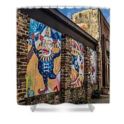 Downtown Clowns Shower Curtain