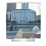 Downtown Columbus  7765 Shower Curtain