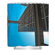 Downtown Detroit Up Shower Curtain