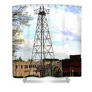 Downtown Gladewater Oil Derrick Shower Curtain