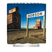 Downtown Hobson, Montana Shower Curtain