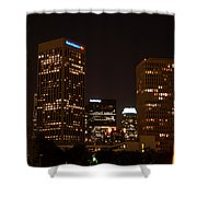 Downtown L.a. In Hdr Shower Curtain