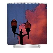 Downtown Lights Shower Curtain