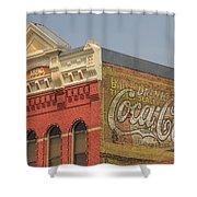 Downtown Livingston Montana Shower Curtain