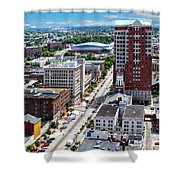 Downtown Manchester Shower Curtain