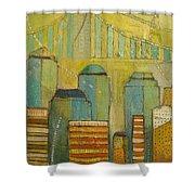 Downtown Manhattan Shower Curtain