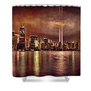 Downtown Manhattan September Eleventh Shower Curtain by Chris Lord