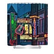Downtown Nashville At Dusk Shower Curtain