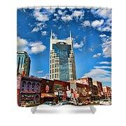 Downtown Nashville Blue Sky Shower Curtain