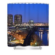 Downtown Nightlife Shower Curtain