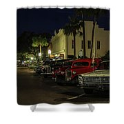 Downtown Old Cars Shower Curtain