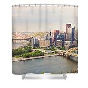 Downtown Pittsburgh Pennsylvania Shower Curtain