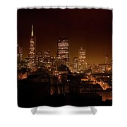Downtown San Francisco At Night Shower Curtain