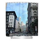 Downtown San Francisco Street Level Shower Curtain