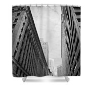 Downtown San Francisco Street View - Black And White 2 Shower Curtain