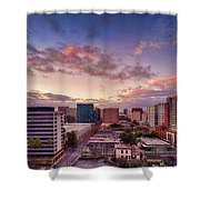 Downtown San Jose From City Heights Shower Curtain