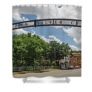 Downtown Silver City Shower Curtain