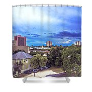 Downtown Skies Shower Curtain