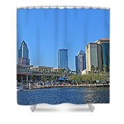 Downtown Tampa-2 Shower Curtain