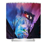 Downtown Vegas Night Shower Curtain