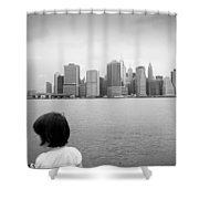 Downtown Views  Shower Curtain