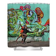 Downtown Walkers Shower Curtain