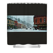 Downtown Wallace In Winter 2017 Shower Curtain