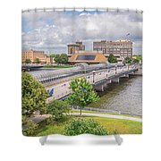 Downtown Waterloo Iowa  Shower Curtain