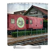 Downtown Woodstock Shower Curtain