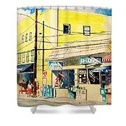 Downtown Wrightsville Beach Shower Curtain