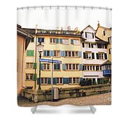 Downtown Zurich Switzerland Shower Curtain