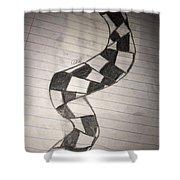 Life Spiral Shower Curtain