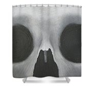Downward Spiral Shower Curtain
