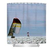 Downwind Shower Curtain