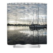 Downy Soft Clouds At The Marina Shower Curtain
