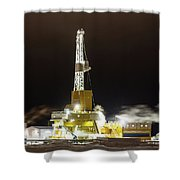 Doyon Drilling Rig And Camp Shower Curtain